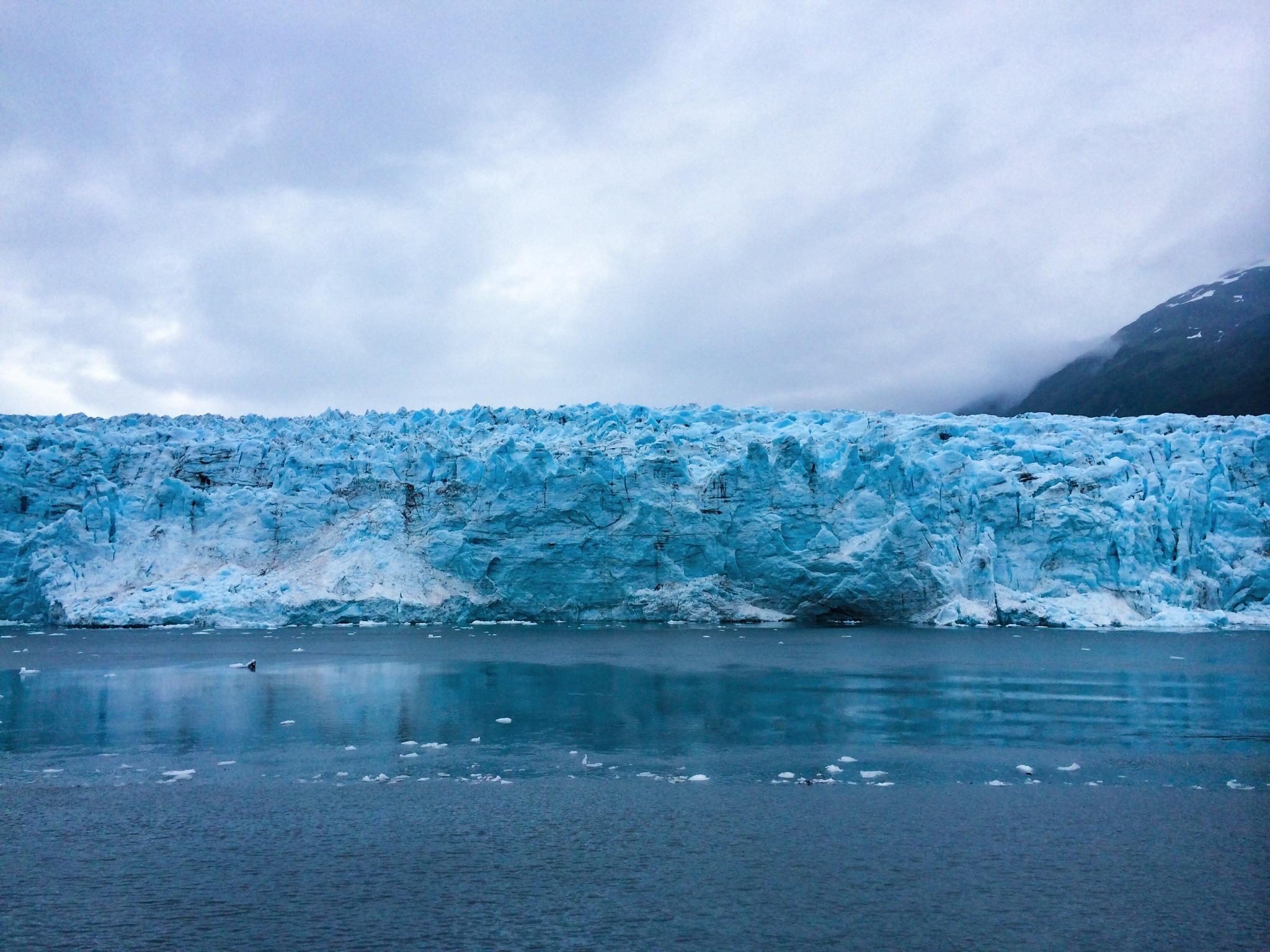 Crystalline blue showing through