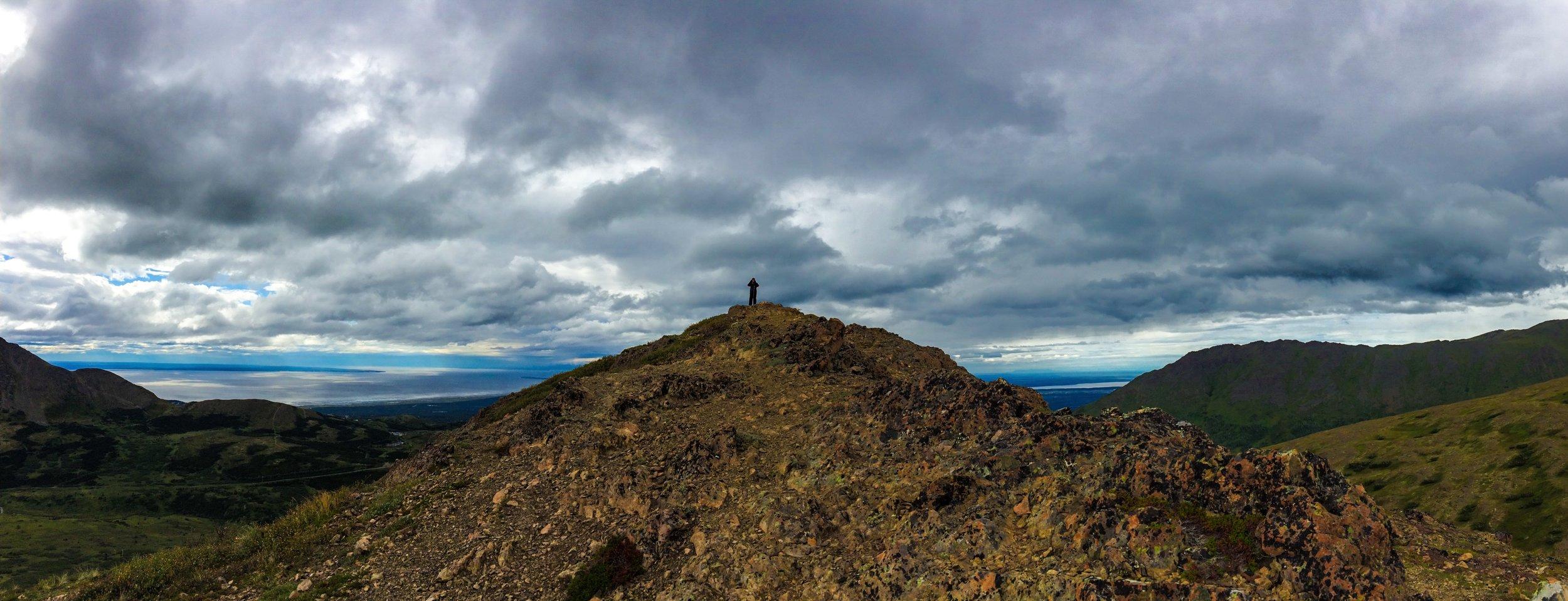 Me on the smaller peak