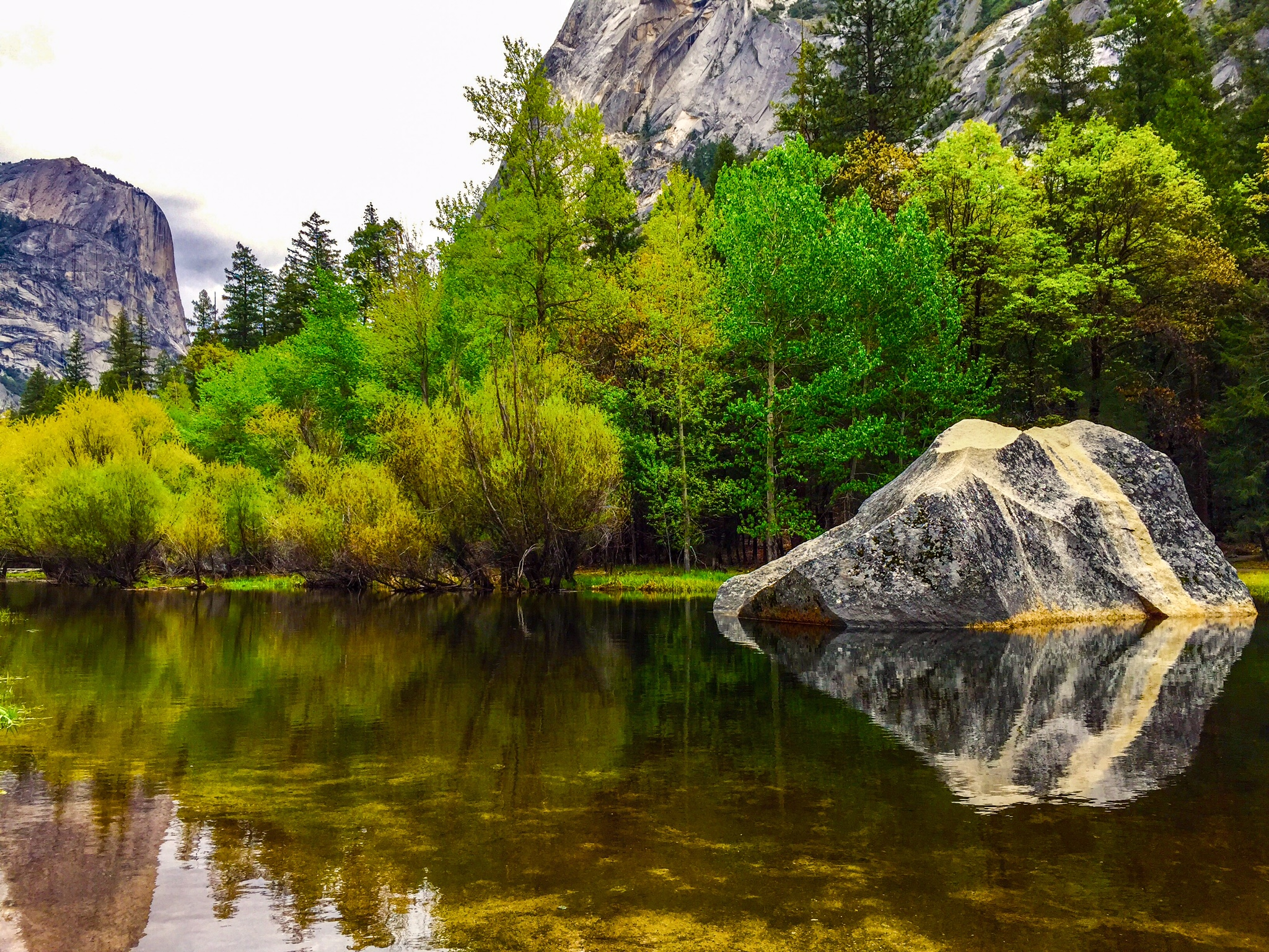 Mirror lake in the Valley