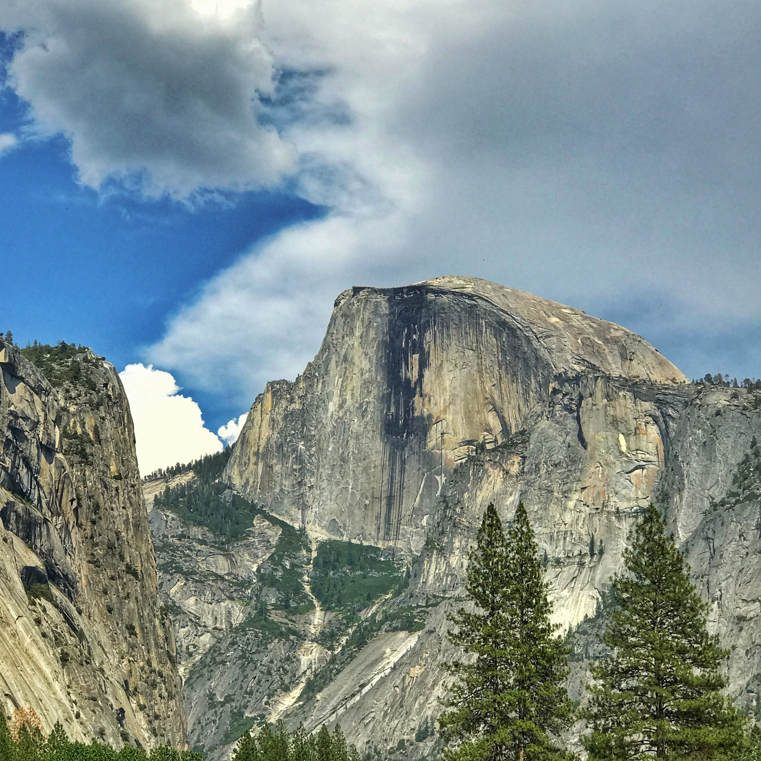 looking back at half dome, our next hike...