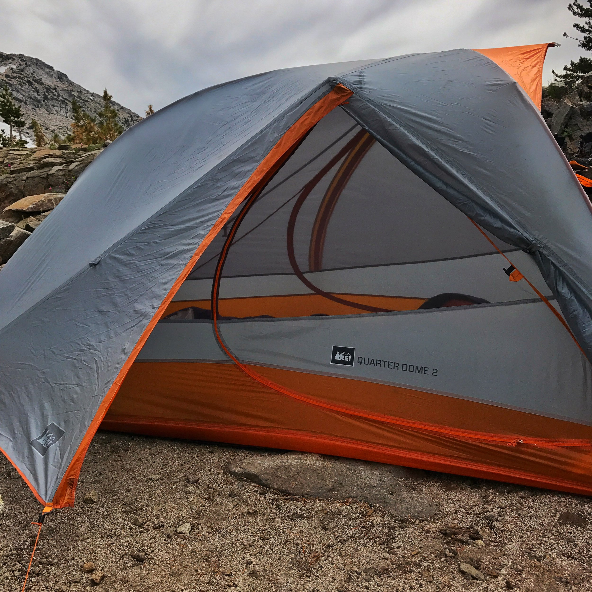 set up our super light back country tent