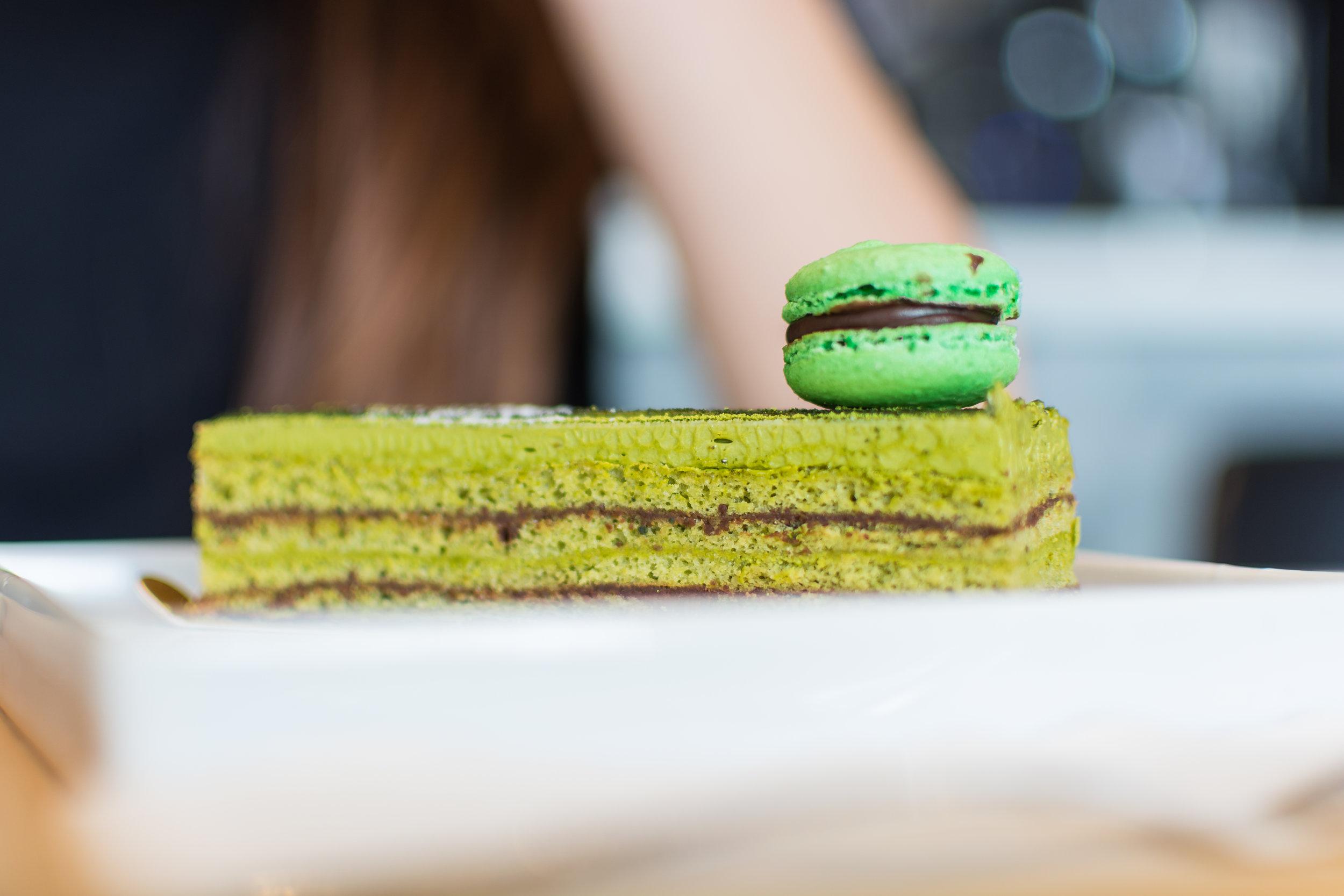 Matcha Opera Cake -