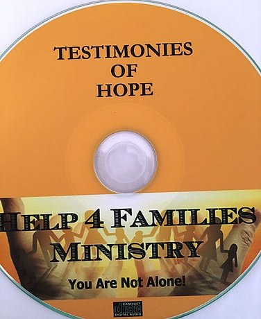 Testimonies of Hope - Help 4 Families Ministry DVD  $10Be encouraged by testimonies from former transgender men and women.