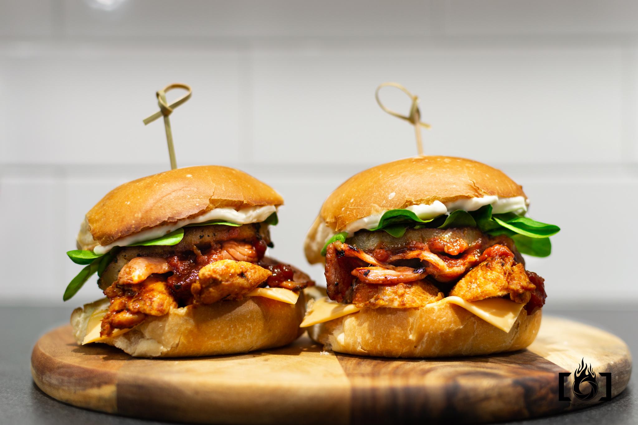 Barbecue BBQ Hawaiian Chicken Burgers