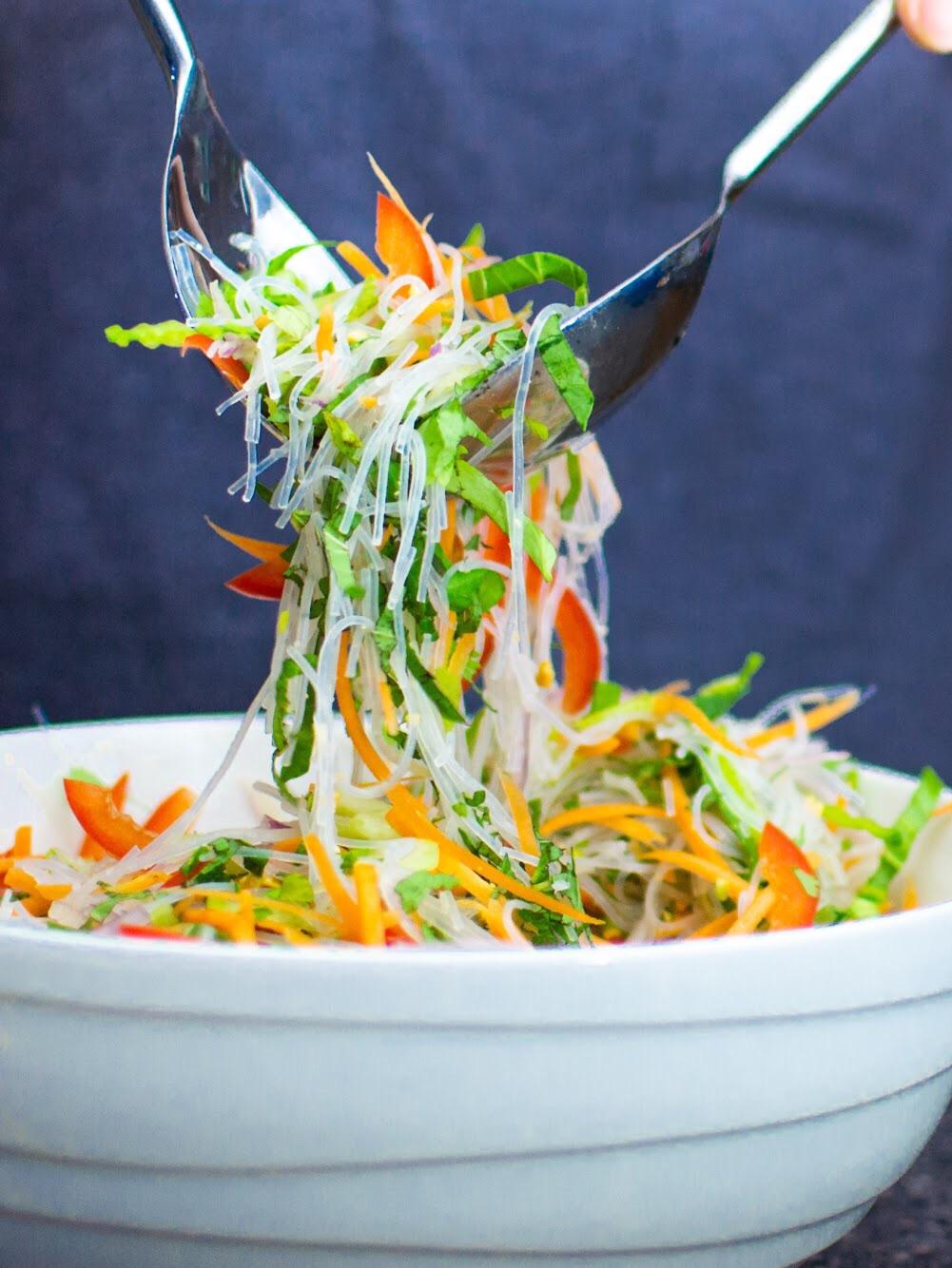 Beef tri tip noodle salad mix