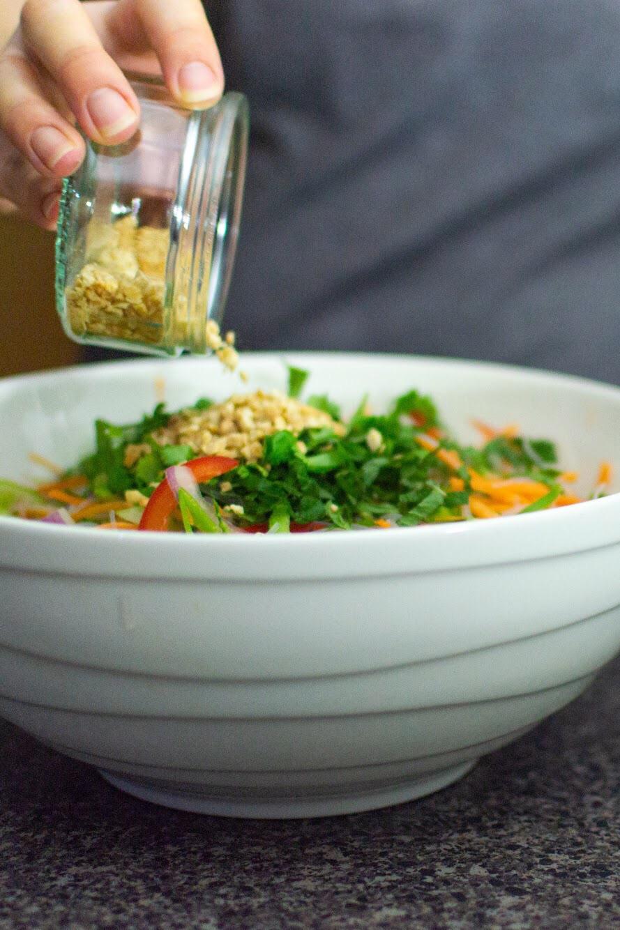 Beef tri tip noodle salad nuts