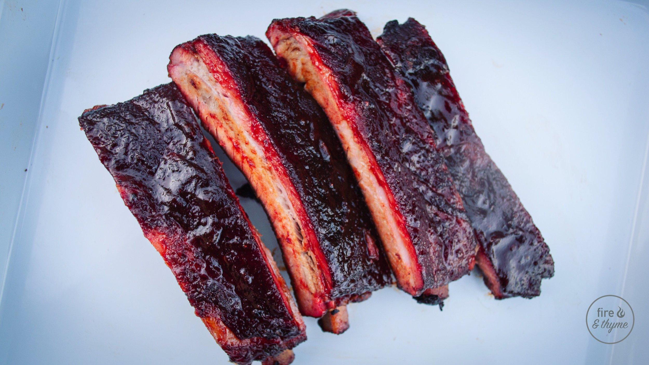 ribs served
