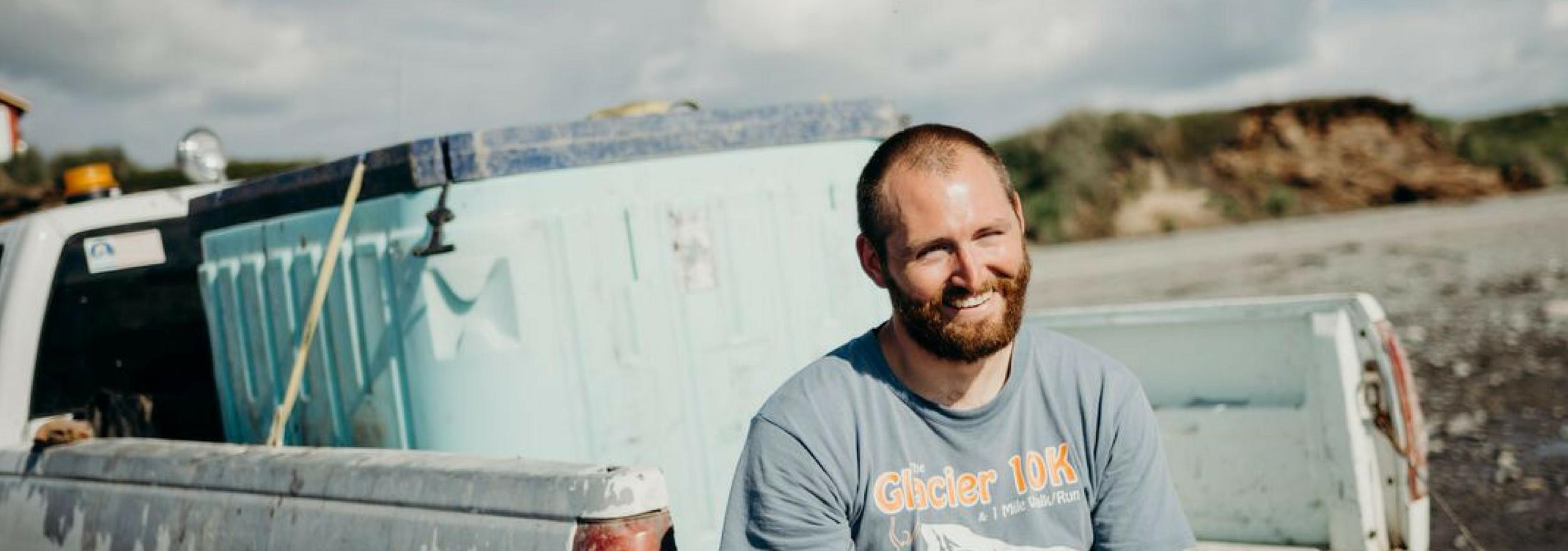 Billy Sarandria works his family's beach set-net site in Naknek, AK.
