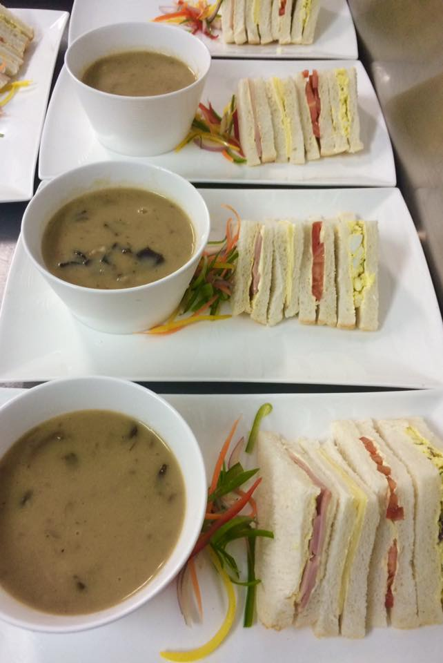 Soup and sandwiches