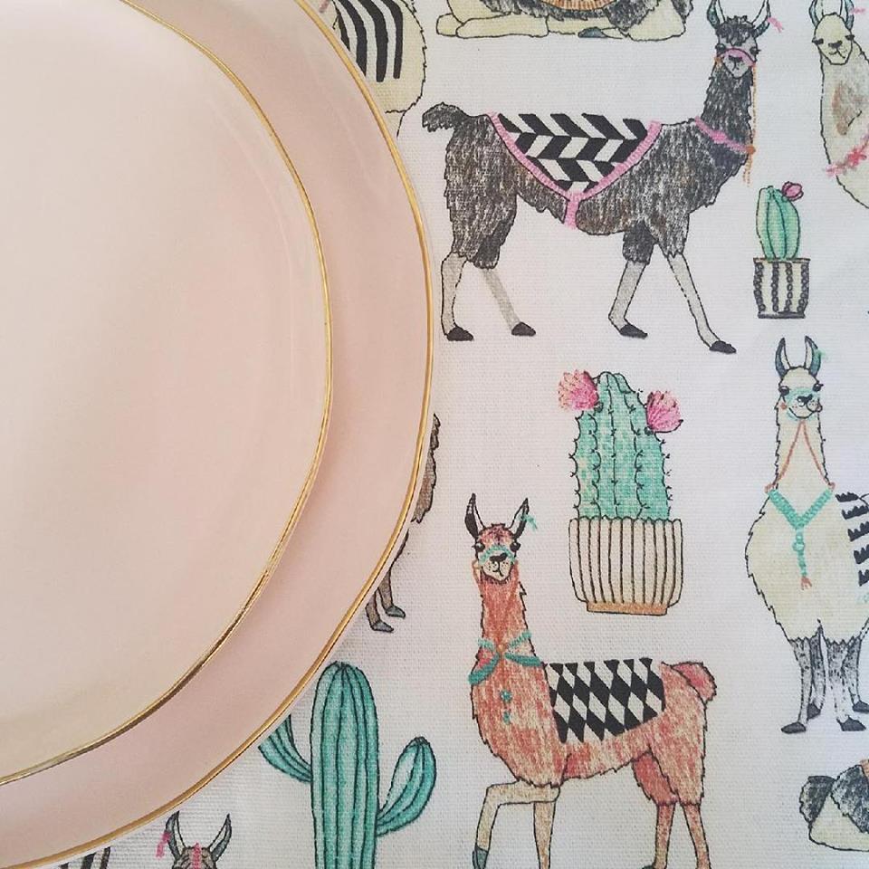 Llama Table Runner - $4.00