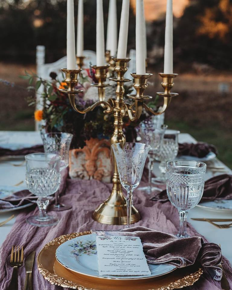Antique Mauve Cheesecloth Runner