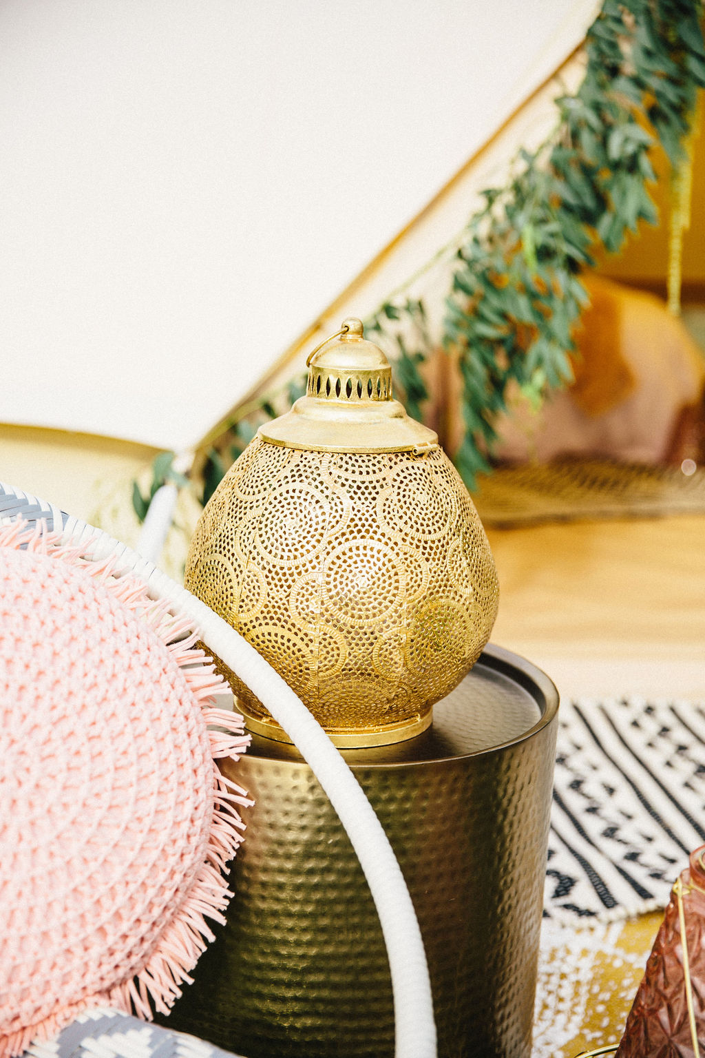 "Gold Boho ""Shay"" Lantern $8-10"