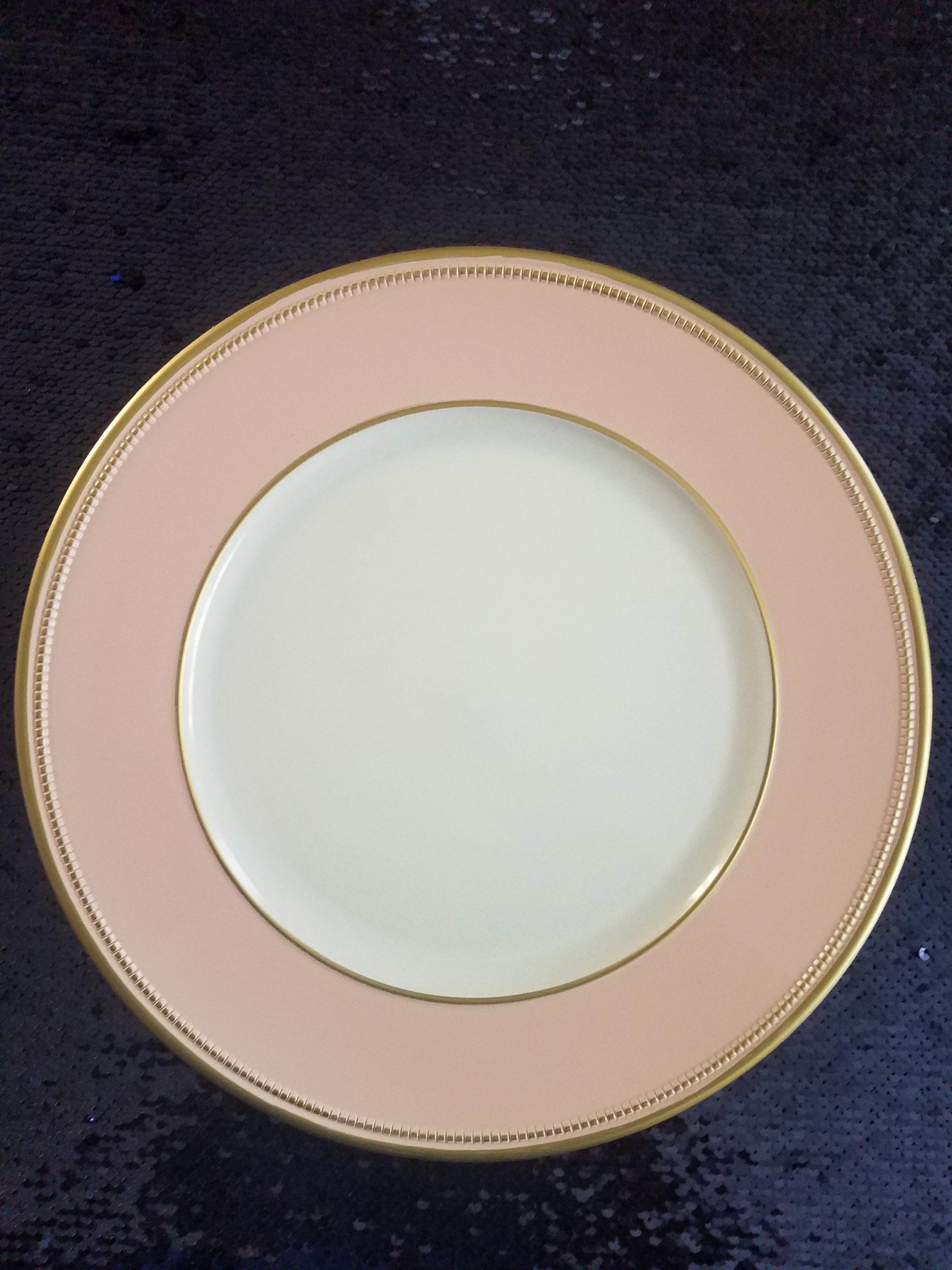Blush and Gold Arylic Charger -$2.00