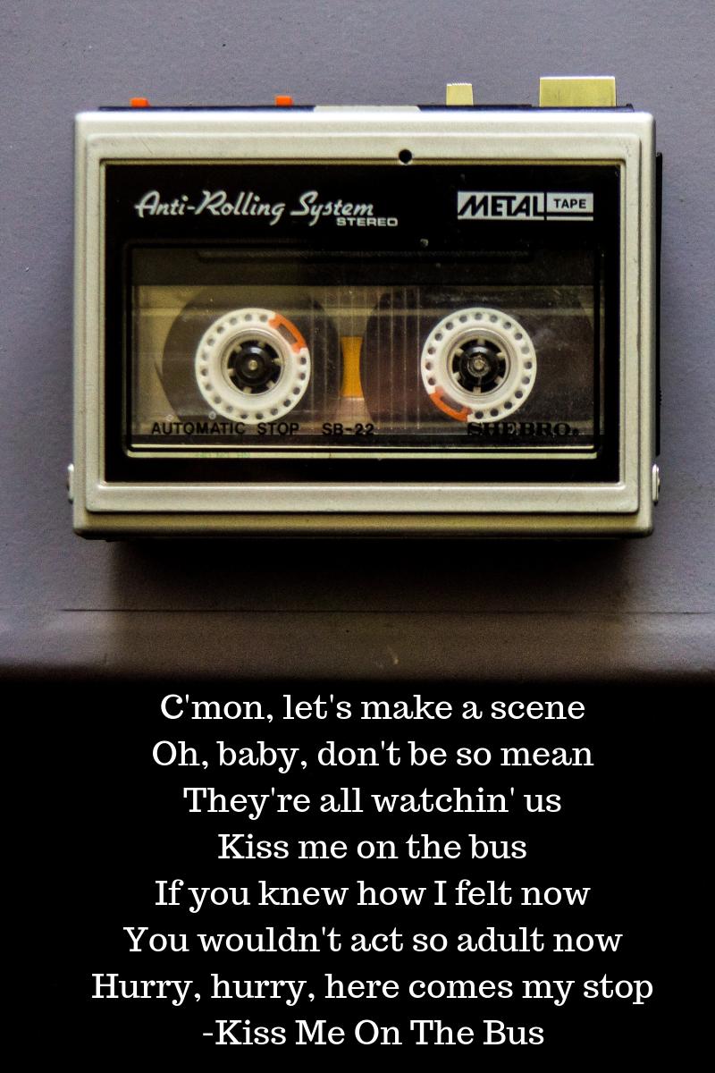 cassette tape, transistor radio