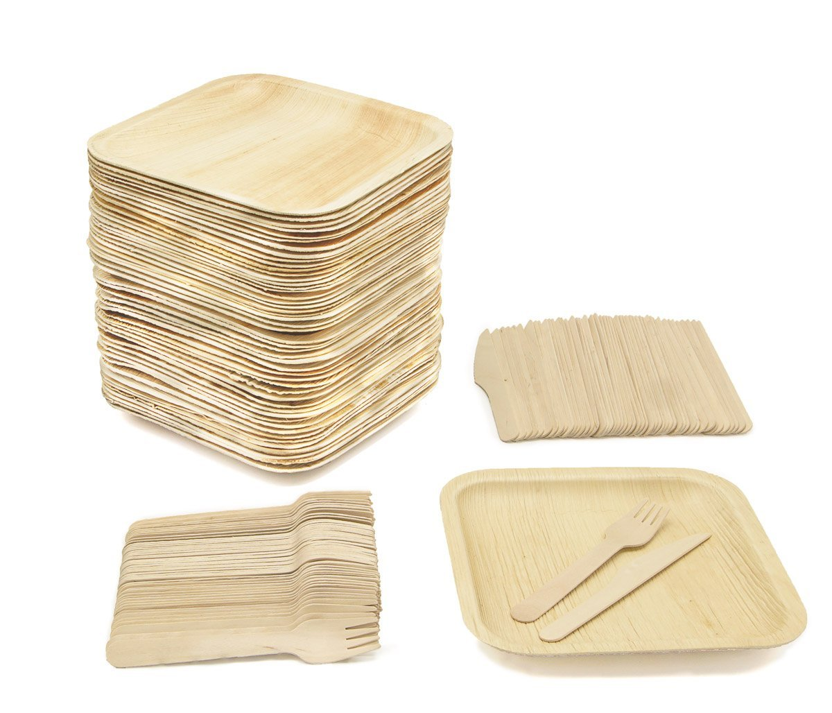 biodegradable plates, biodegradable knife, biodegradable fork