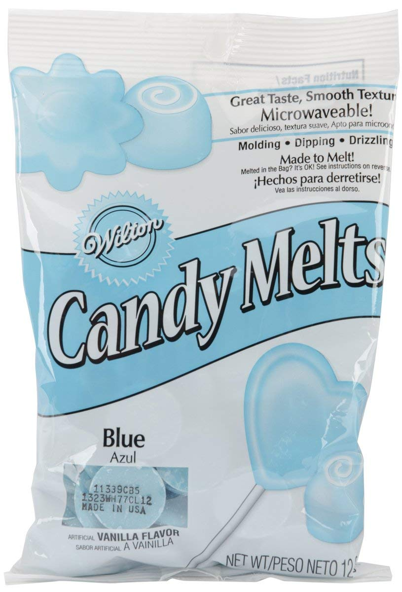 Blue candy melts