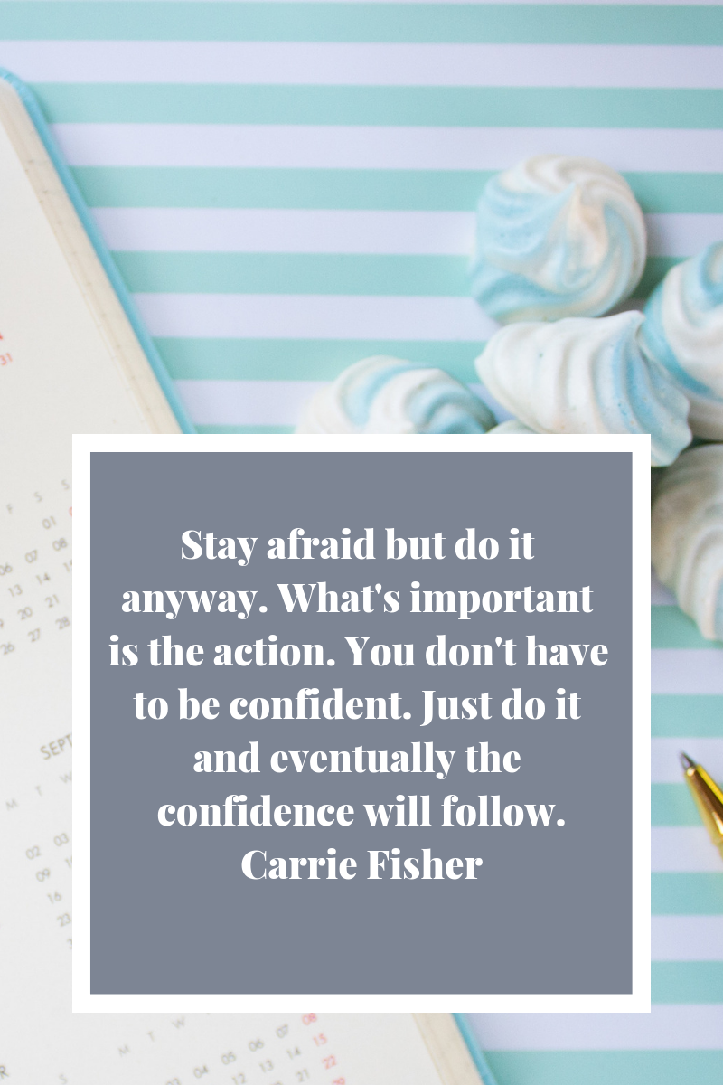 journal, meringues, carrie fisher quote, stripes