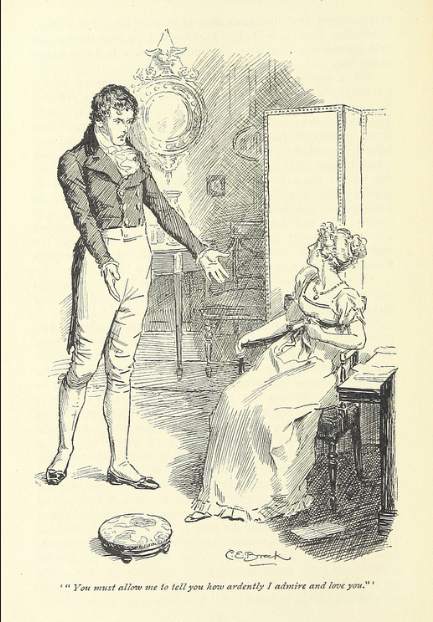 Mr. Darcy's first proposal, Pride and Prejudice