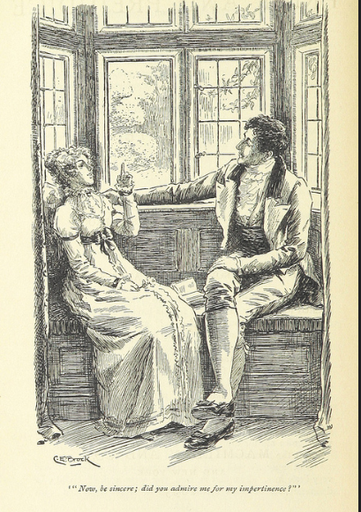 Mr. Darcy and Lizzy, Pride and Prejudice, Love