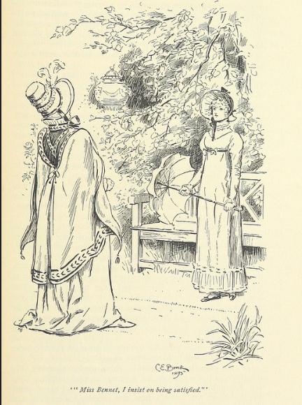 Catherine De Burgh, Lizzy, Pride and Prejudice