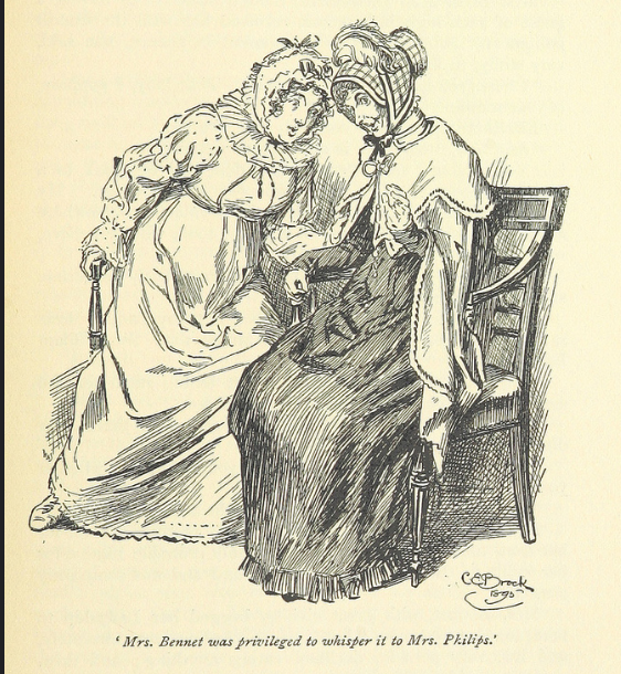 Mrs. Bennet, Mrs. Phillips, Pride and Prejudice