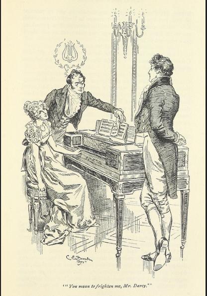 Mr. Darcy, Mr. Bingley, Lizzy, Pride and Prejudice