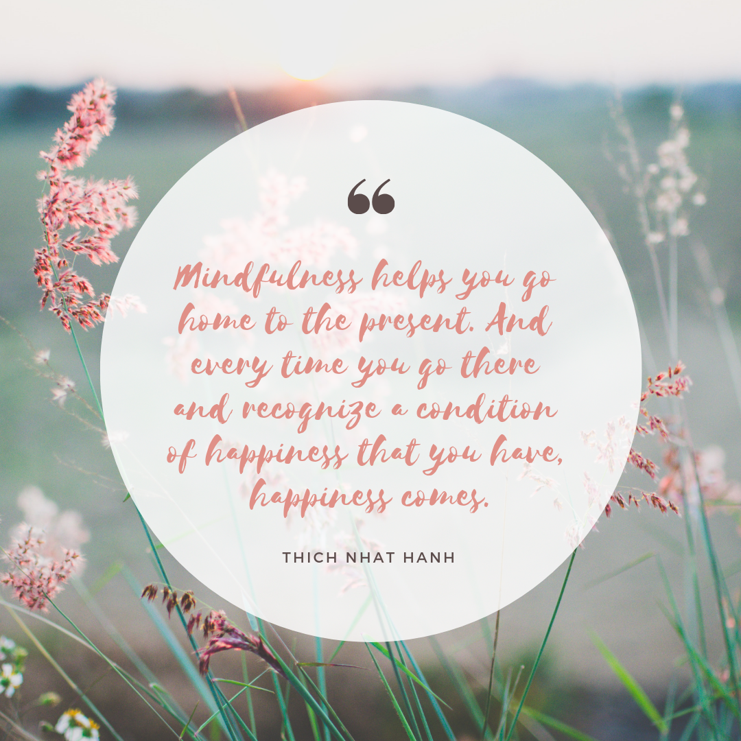 mindfulness, thich nhat hanh, flowers