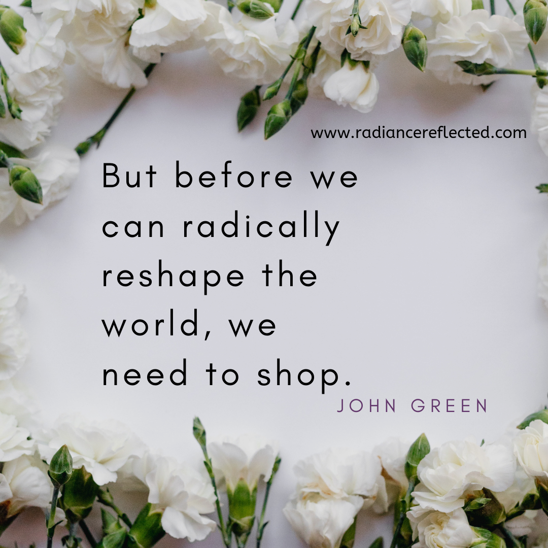 John Green, shopping, paper towns