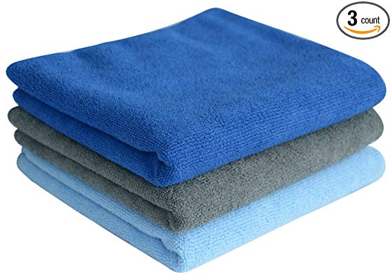 sweat towels, blue green, 3 count