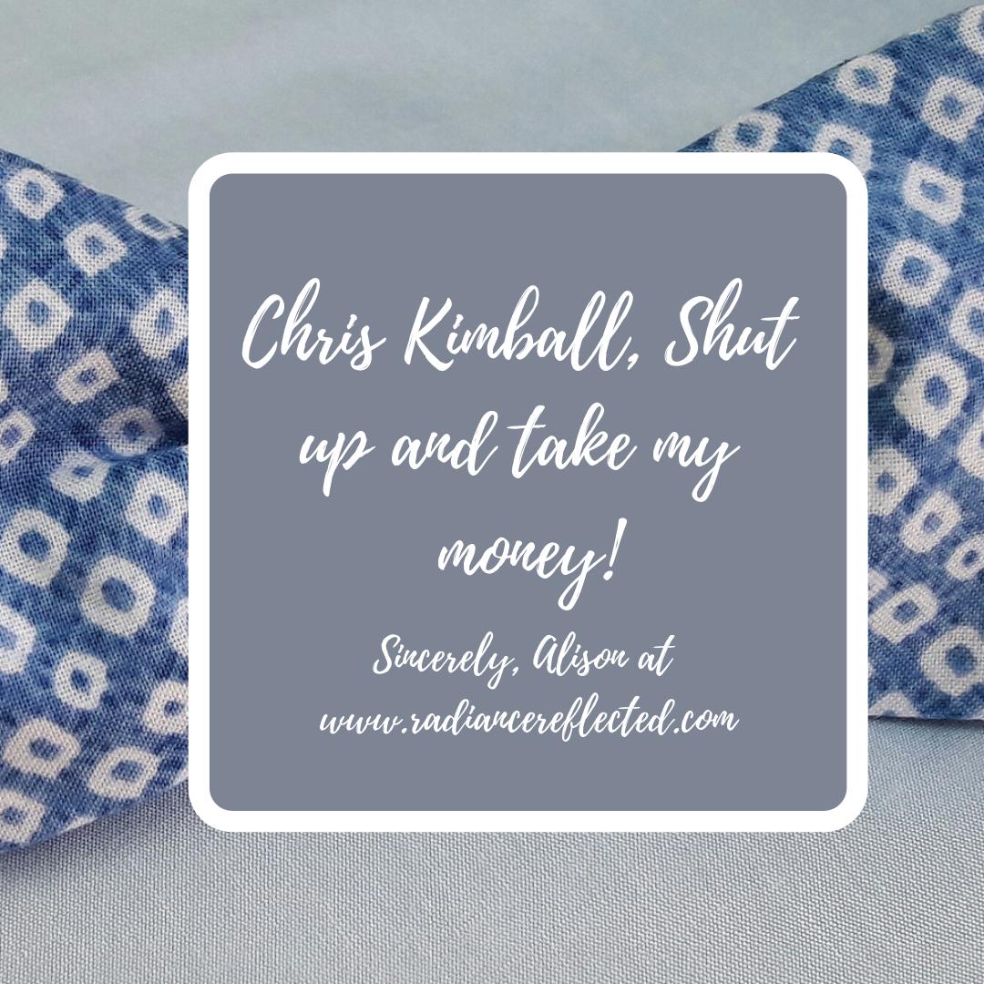 Chris Kimball, bowtie