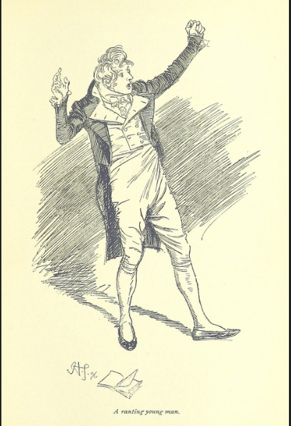 Mr. Yates, A Young Man Ranting, Jane Austen, Mansfield Park,