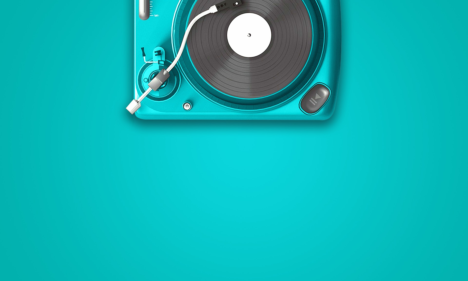 turquoise, record player vinyl, music