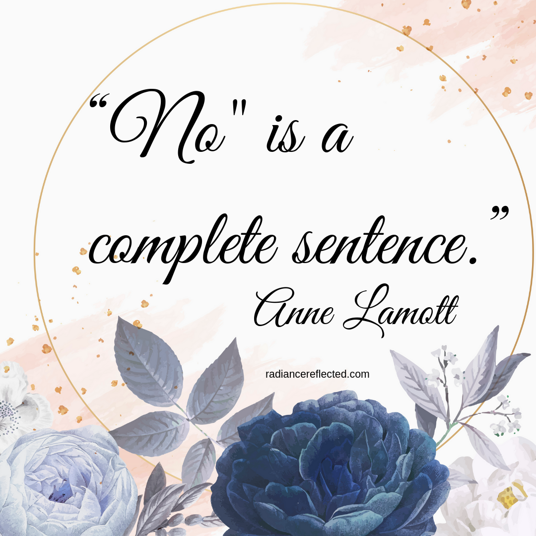 anne lamott, no is a complete sentence