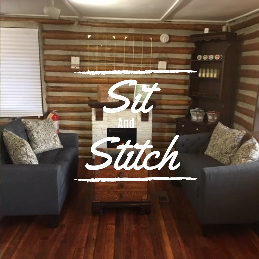 Sit and Stitch at the Shop Sundays and Wednesdays
