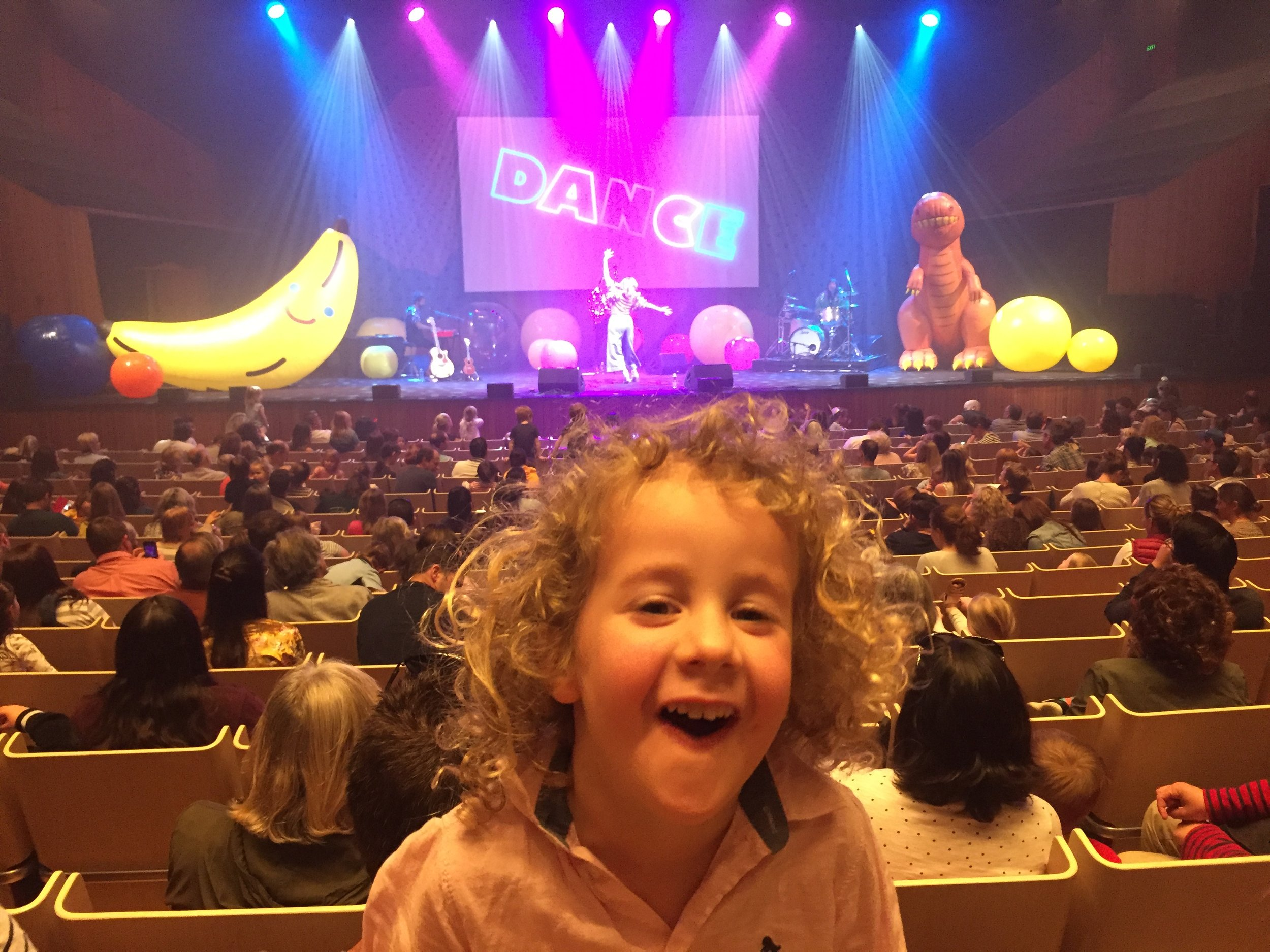 Noah at the Justine Clarke concert