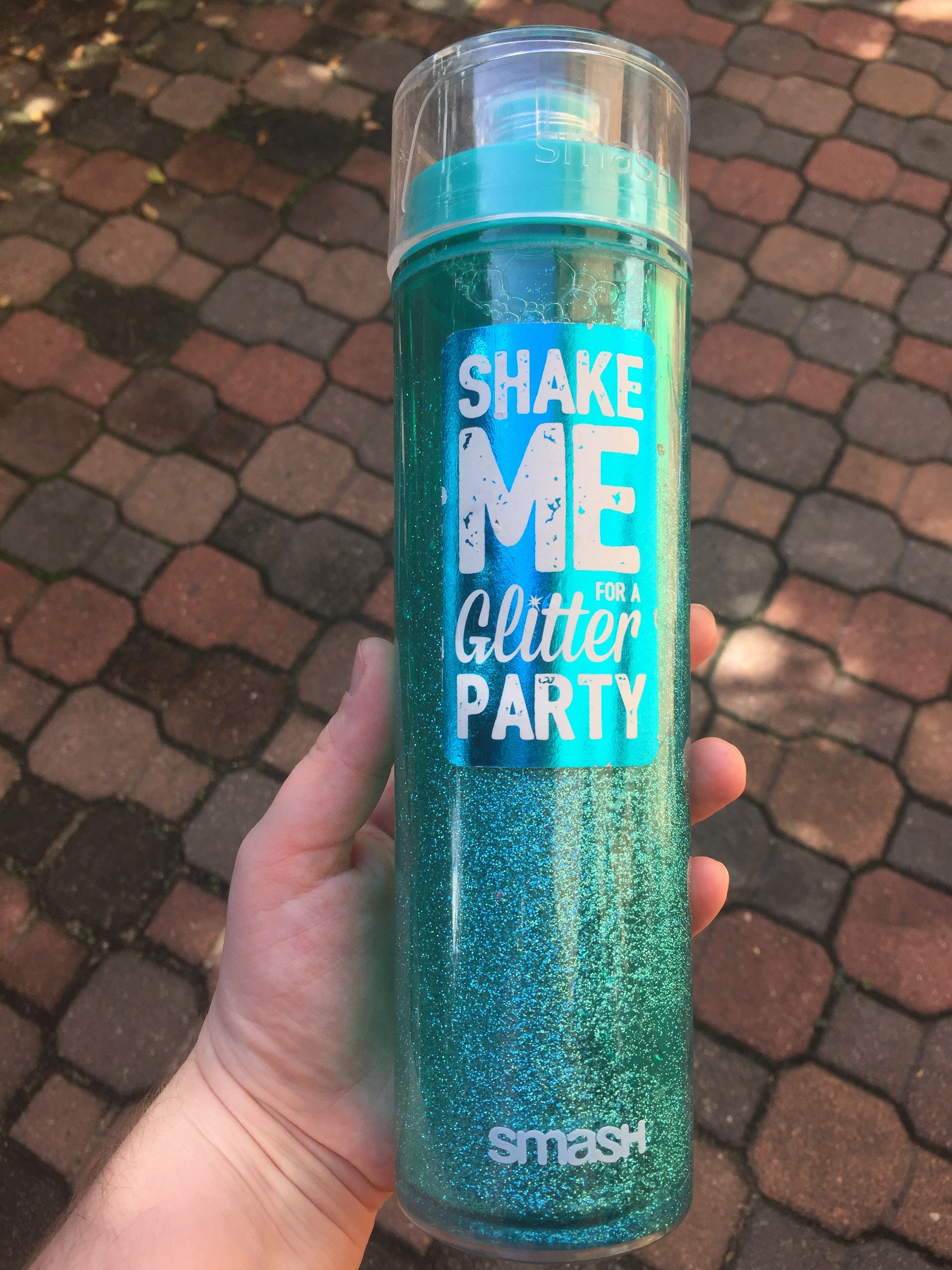 Sparkly water bottle