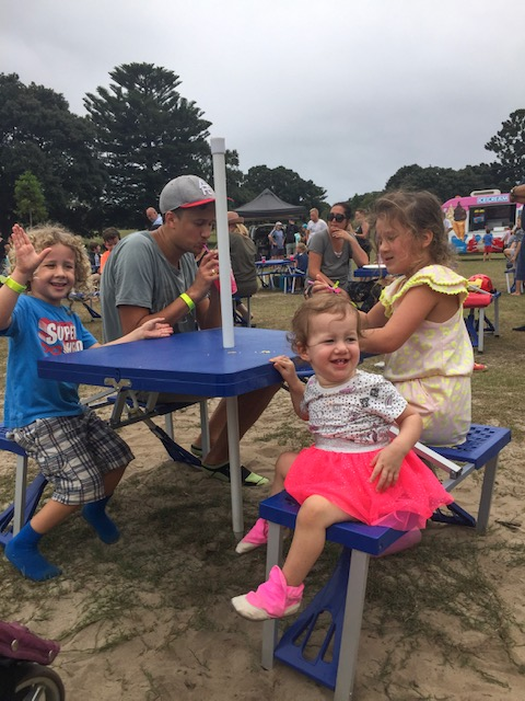 Kids sitting at table