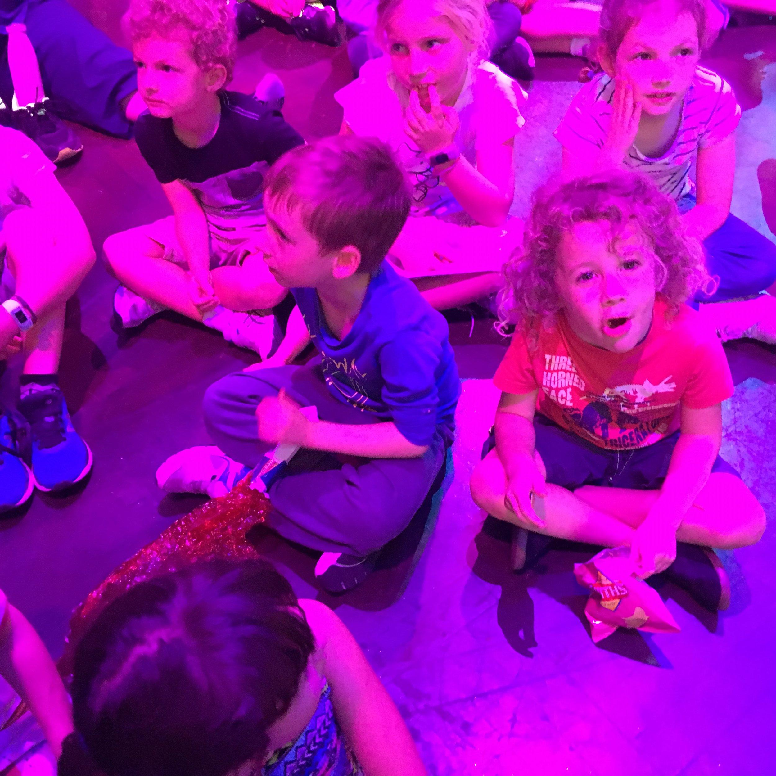 kids watching comedy show