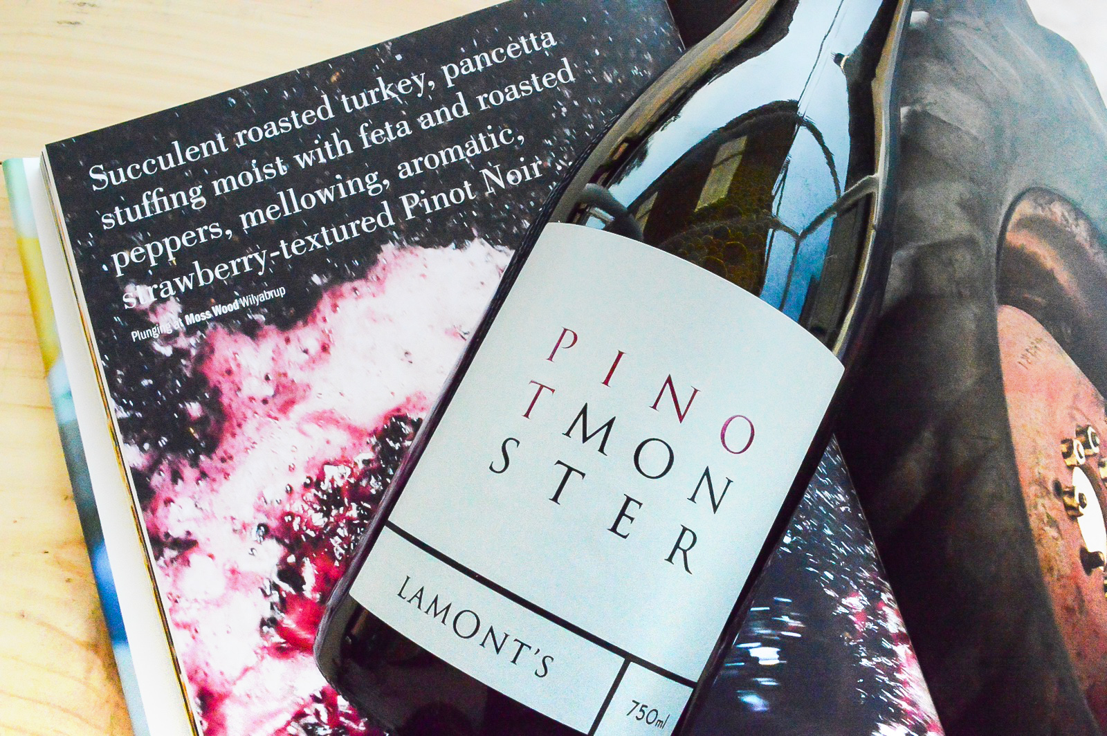 New release 2018 Pinot Monster, sourced form luscious Pemberton fruit $45 per bottle - Availability: Available for a limited time at our Swan Valley venues