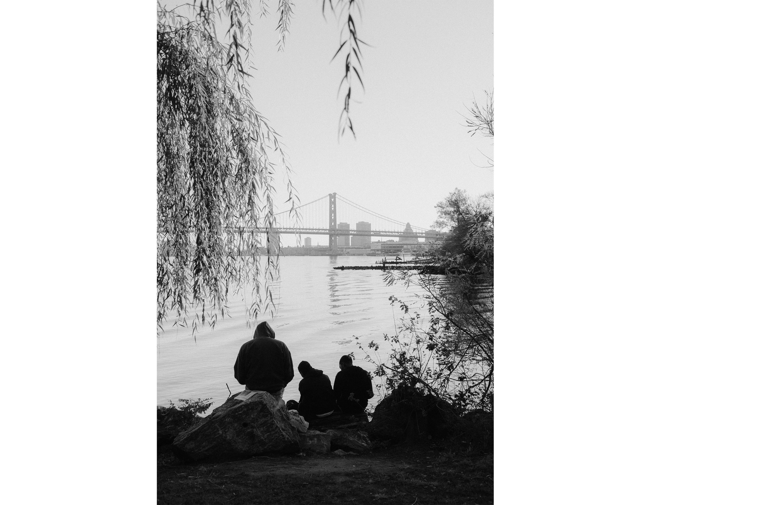 Black family by the river , 2018