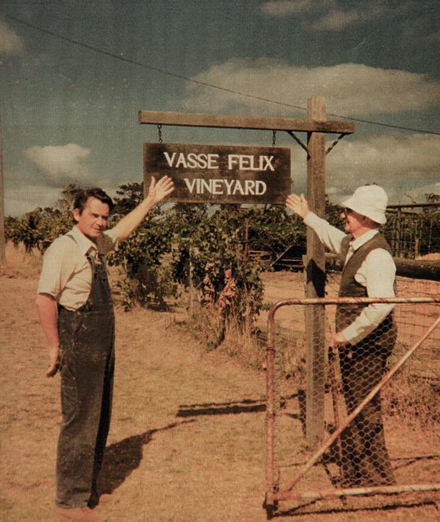 The original Vasse Felix sign post in the 60's.