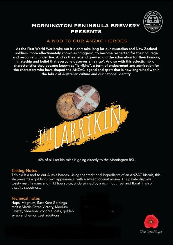 Mornington Peninsula Brewing The Larrikin Ale — Liquor
