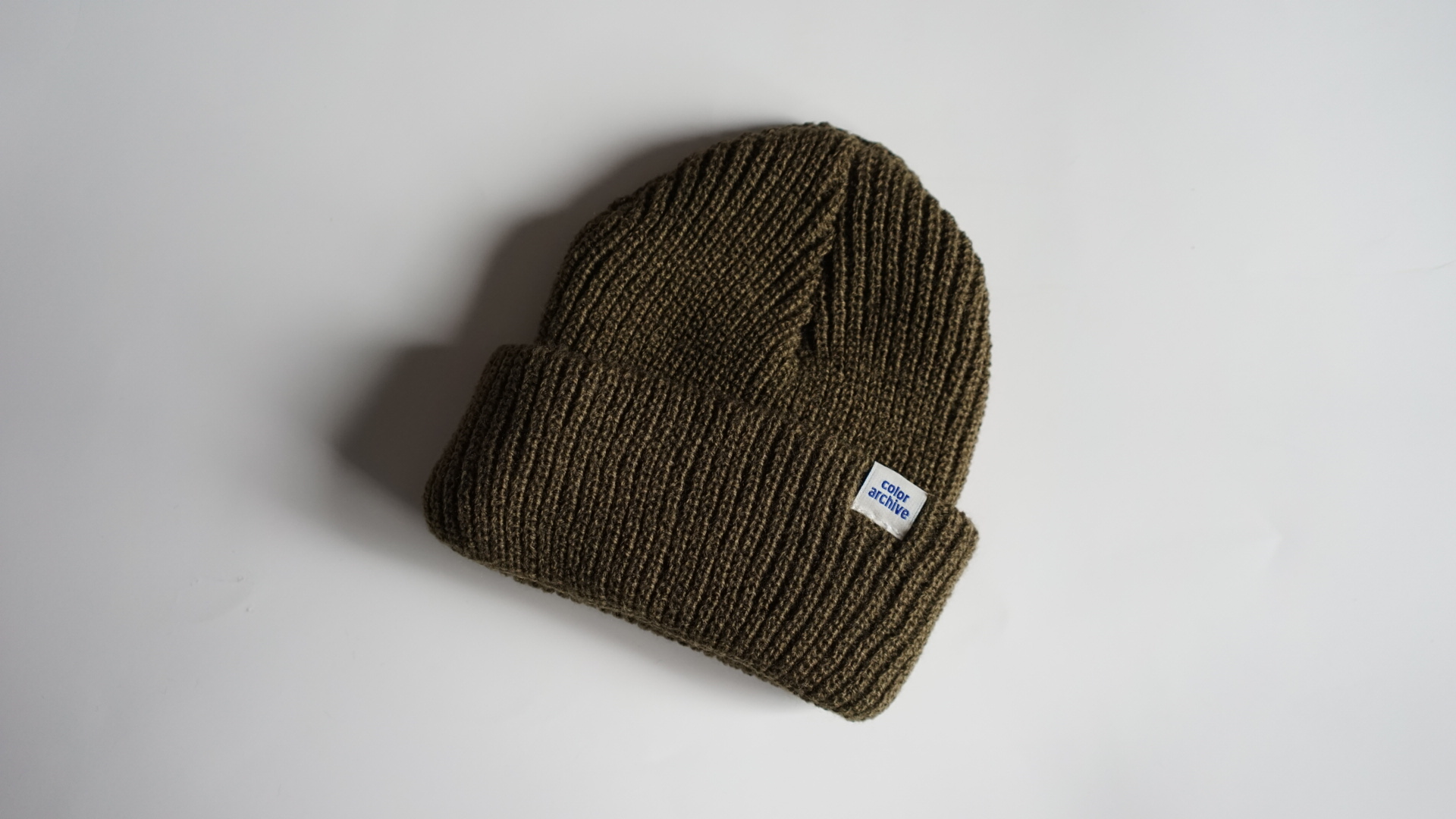 CA ESSENTIAL BEANIE - OLIVE  HEAVYWEIGHT ACRYLIC BEANIE  MADE IN USA FROM START TO FINISH  100% ACRYLIC