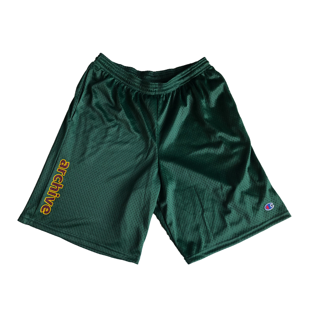 CHAMPION TB SHORT - GREEN  PRINTED ON 9' CHAMPION SHORT  PRINTED IN LOS ANGELES, CA