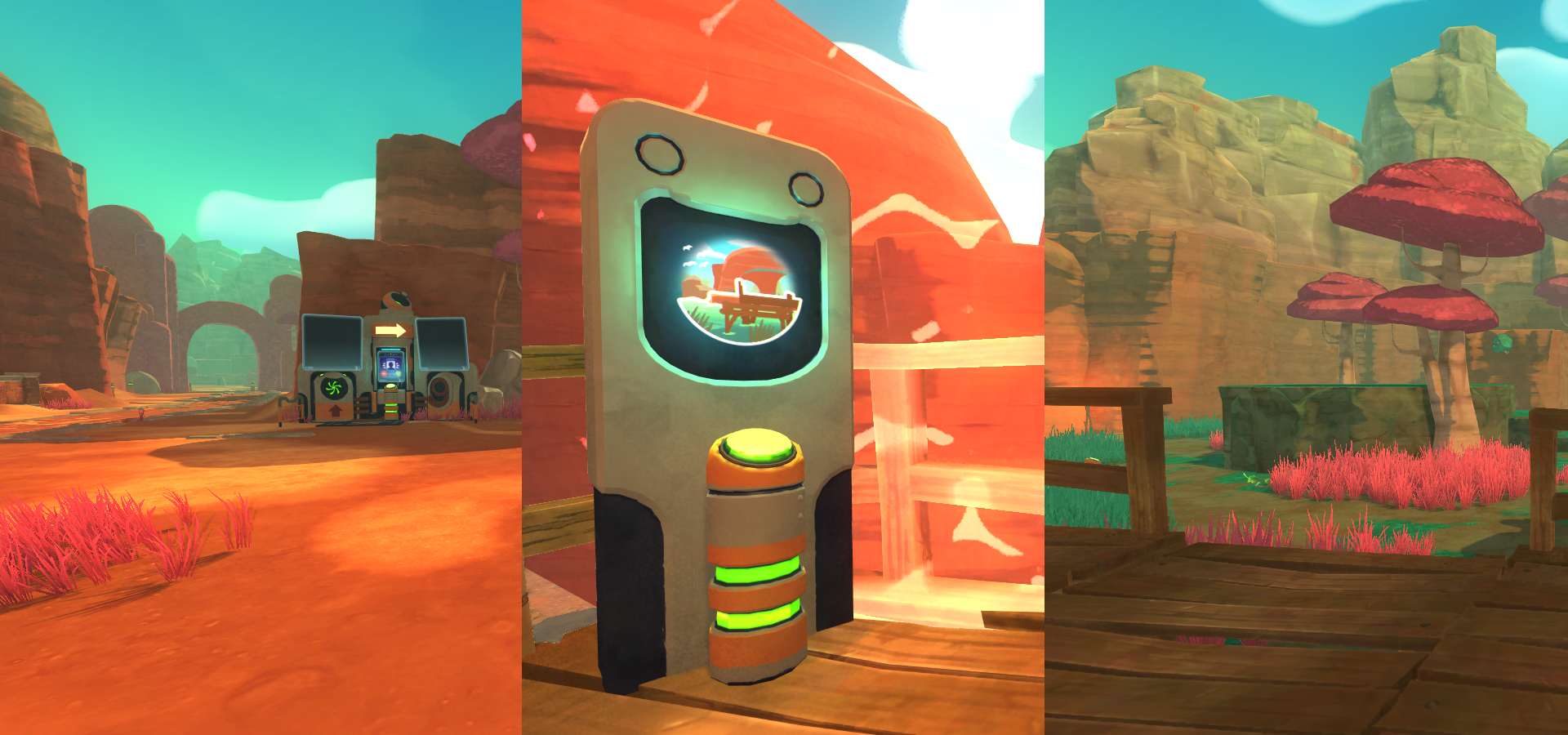 The game has a lovely low-poly look - filled with rich colours and cute slimes!