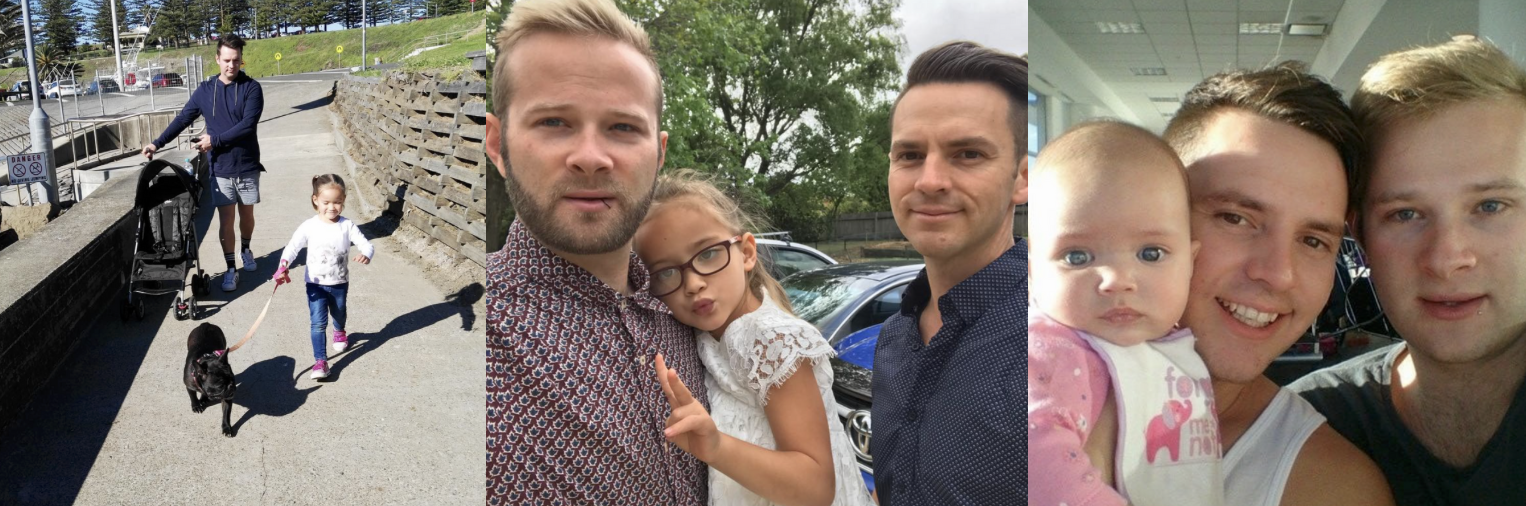 "These two Sydney-siders are fathers to the lovely Charlee who was born through surrogacy. Both Cohen and Murray always wanted a child together and said bring Charlee into their lives was a ""no brainer"". Make sure you keep up with their family adventures and give them some insta-love! We certainly love them!"