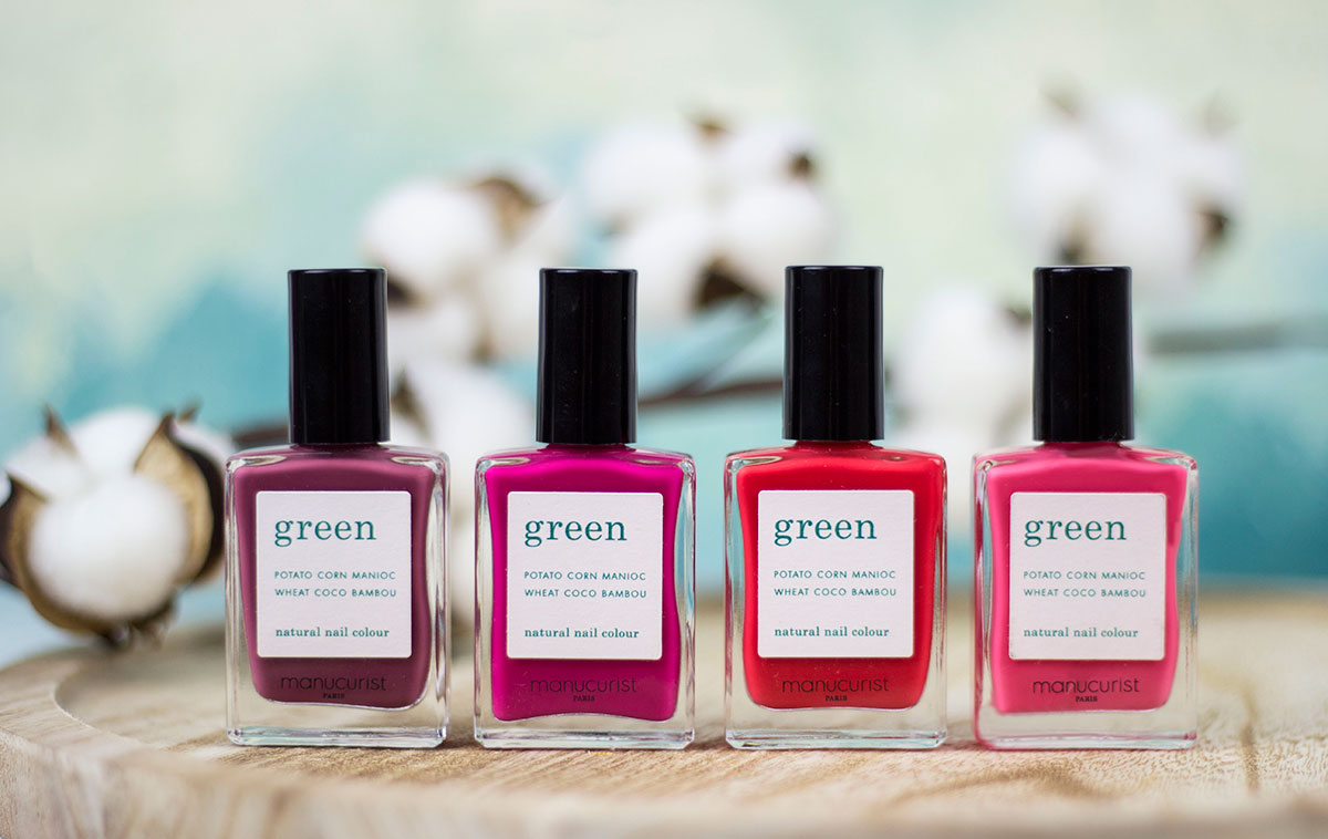"WE USE "" GREEN"" FROM MANUCURIST - This French nail lacquer line is as natural and respectful as possible for our planet. A collection of more than 50 intense colours, formulated 9-free, composed with up to 84% of natural ingredients, vegan and cruelty free !"