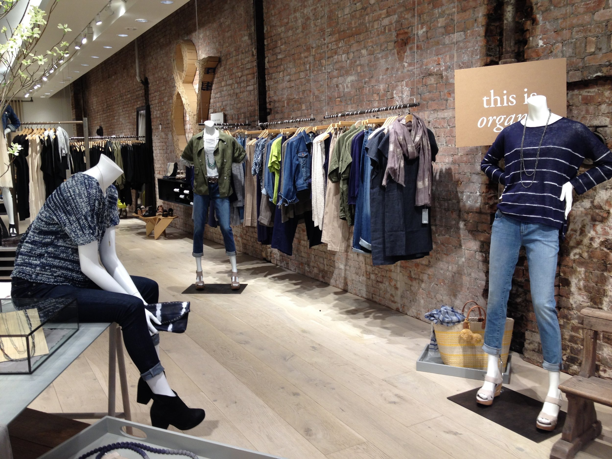 EILEEN FISHER - 5TH AVE RECONCEPTING - UPDATES TO MANNEQUINS, STYLING, PROPS AND WARDROBING.