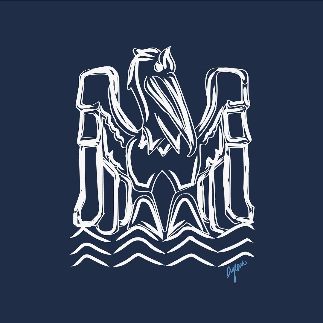 Art Deco Pelican