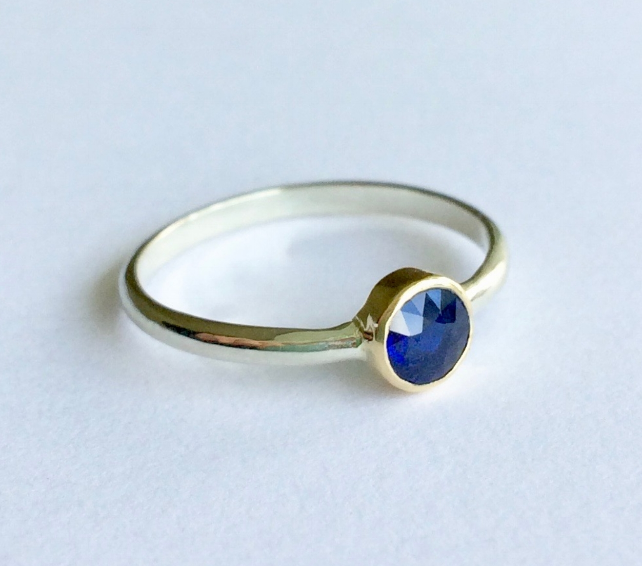 Remodelling of an Antique Family Heirloom Brooch with a Stunning Sapphire into a Pretty Ring for the wonderful and Fabulous Fiona